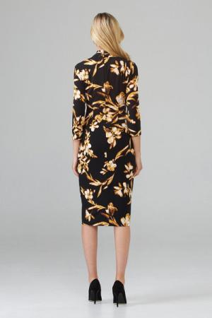 jurk met sluiting op de buik 262 BLACK