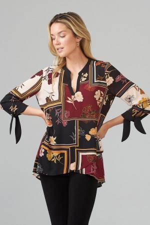 blouse 178 print zwart